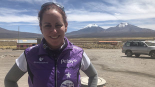 Rina Gitler, tras la expedición por el Salar de Uyuni.