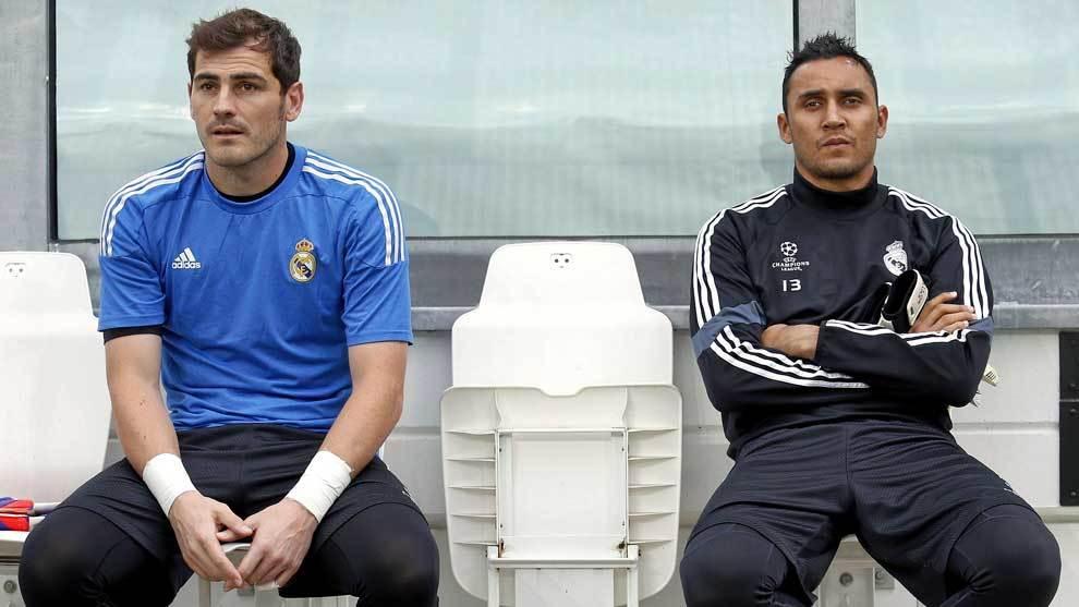 Iker Casillas y Keylor Navas cuando compartían la portería del Real...