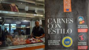 Stand de IGP Ternera Gallega y Ternasco de Aragón y cocina en...