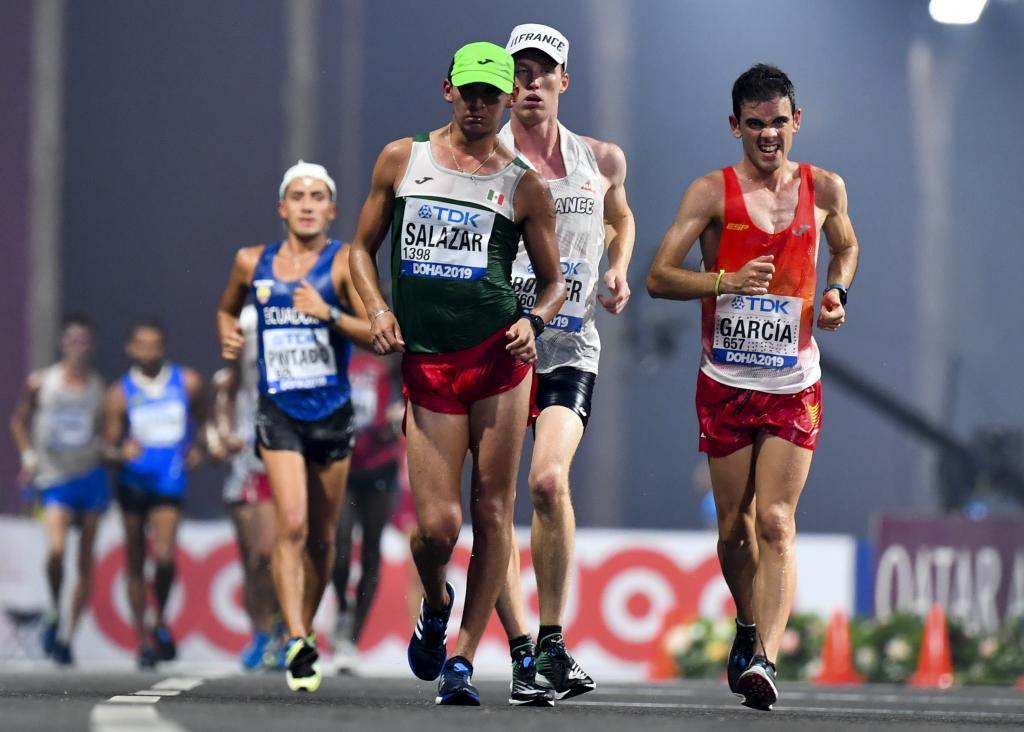 Diego García Carrera durante los 20 kilómetros marcha del Mundial de...
