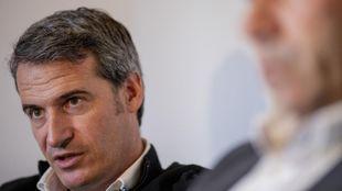 Galo Blanco durante una entrevista para MARCA