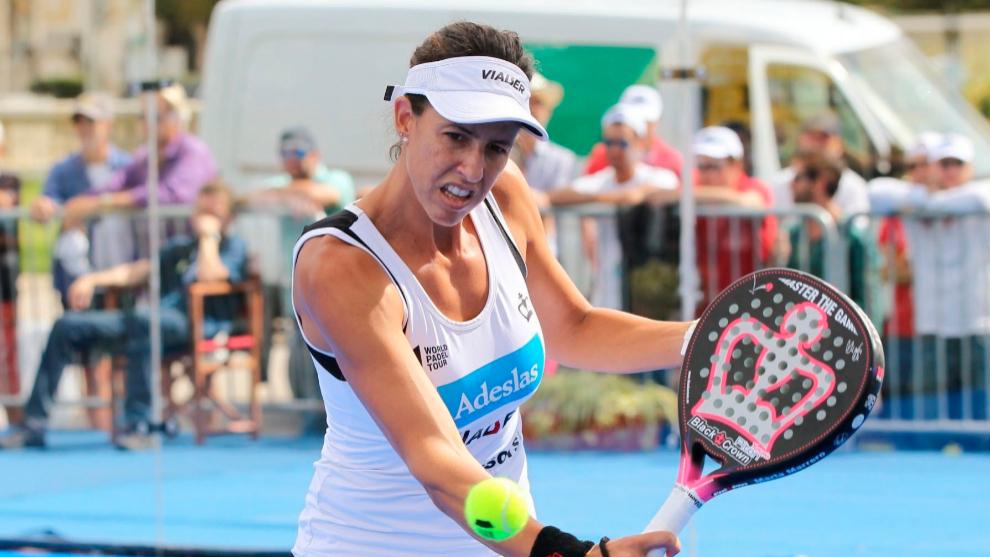 Marta Marrero durante un campeonato en Portugal.