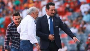 Javier Salinas durante un evento de la LMB.