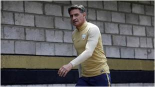 Míchel, tras un entrenamiento con Pumas.