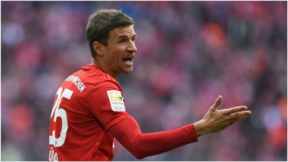 Thomas Müller se lamenta en el partido ante el Hoffenheim.