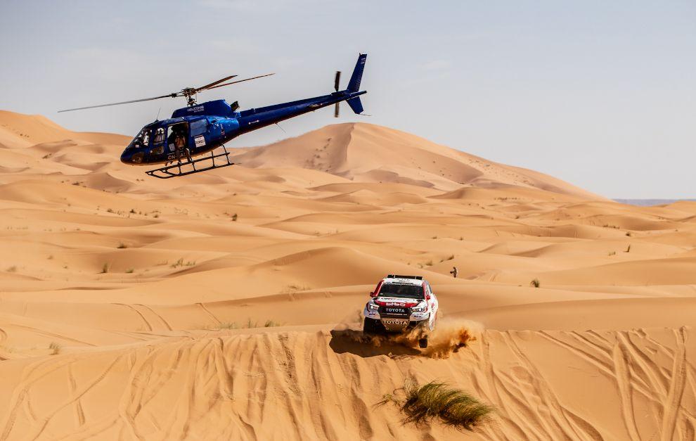 Fernando Alonso y Marc Coma, en acción en Marruecos