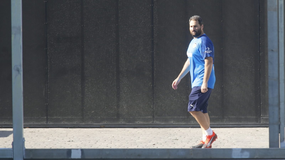 Alberto Torres, readaptador del Valencia, en la ciudad deportiva de...