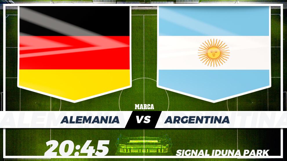 Alemania - Argentina / 20:45 horas / Signal Iduna Park (Dortmund) /...