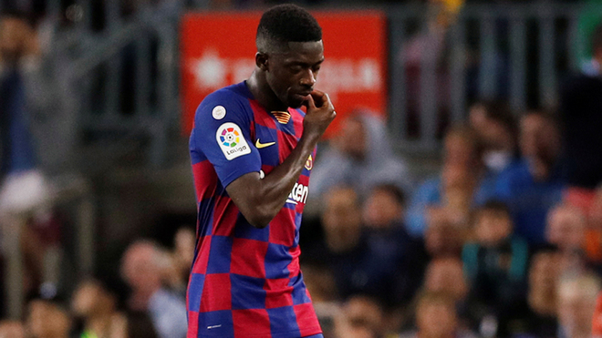 Dembélé en el juego ante Sevilla