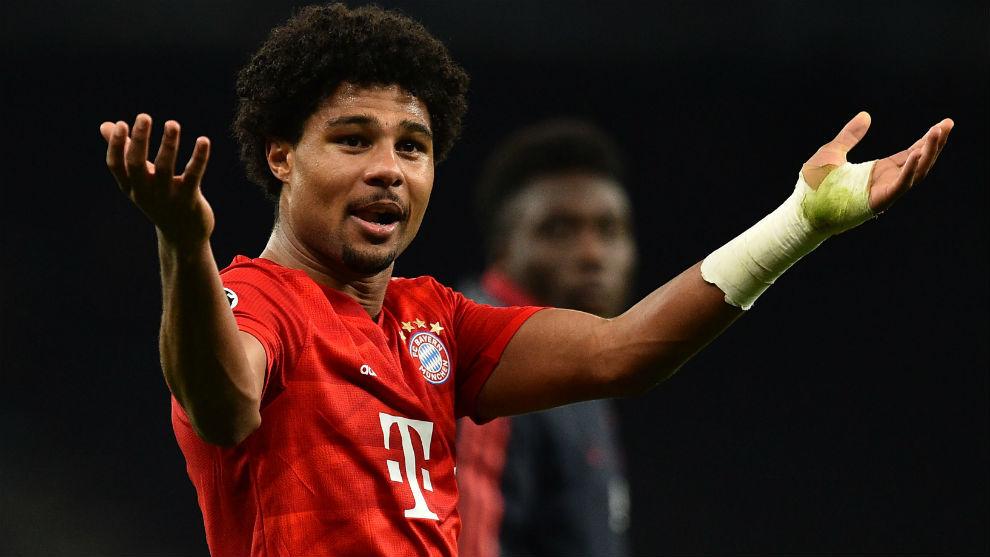 Serge Gnabry (24), en un partido con el Bayern.