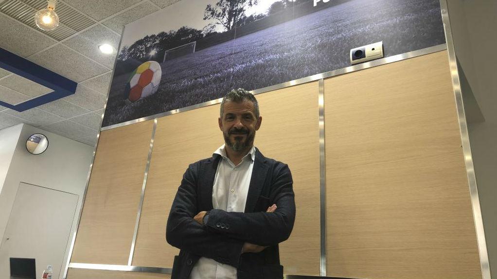 El presidente de Proliga, David Jiménez, en sus oficinas.