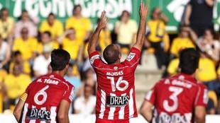 Moisés Hurtado, durante su etapa en el Girona, en una imagen de...
