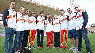 Los medallitas del último Europeo de atletismo paralímpico.