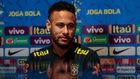 Neymar (27), en rueda de prensa