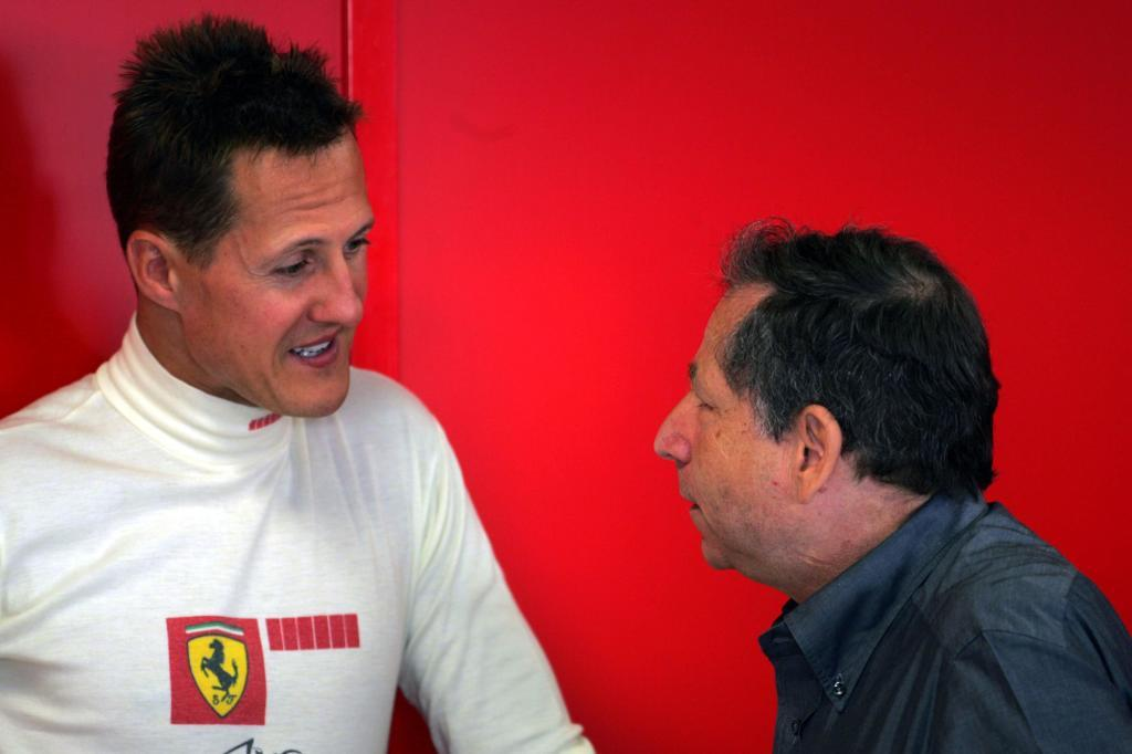 Michael Schumacher y Jean Todt.