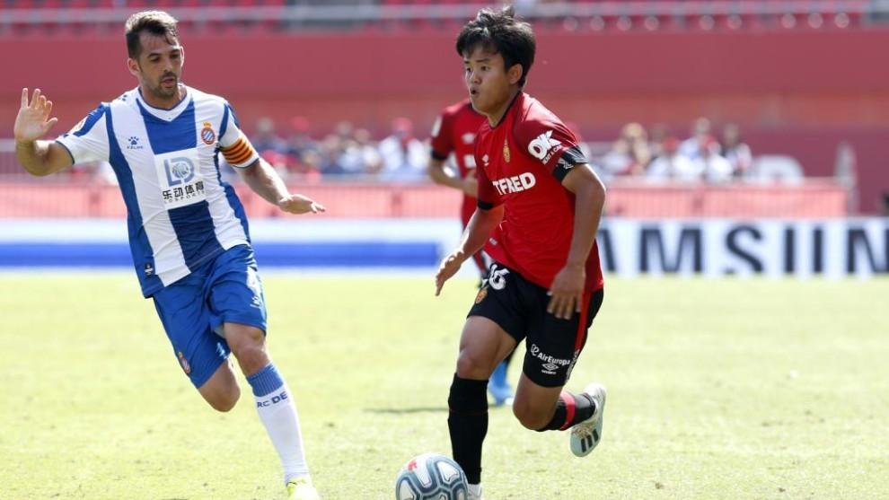 Víctor Sánchez, durante el encuentro contra el Mallorca