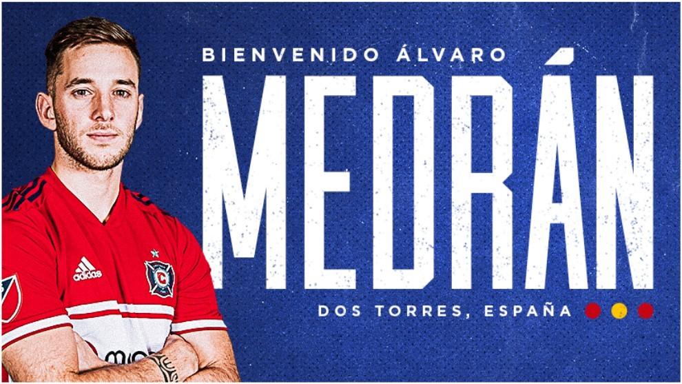 Álvaro Medrán, presentado con el Chicago Fire.