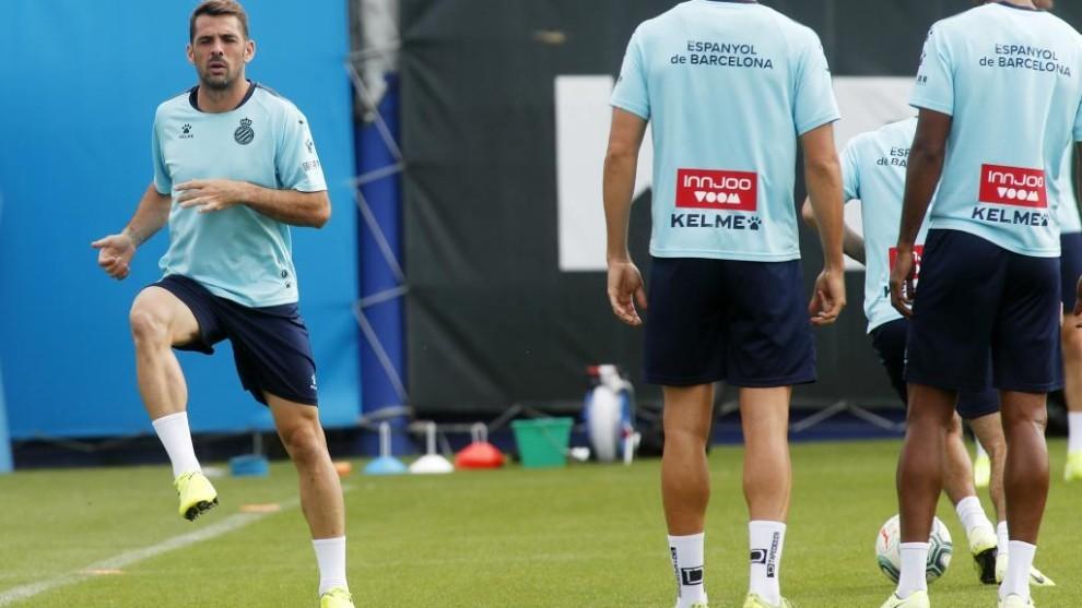 Víctor Sánchez, en un entrenamiento.