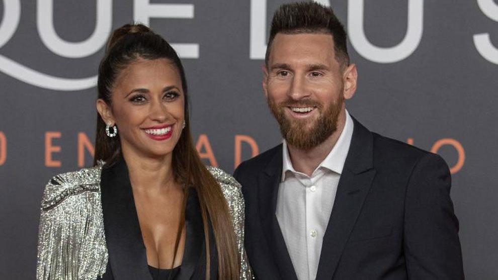 Messi and Antonela.