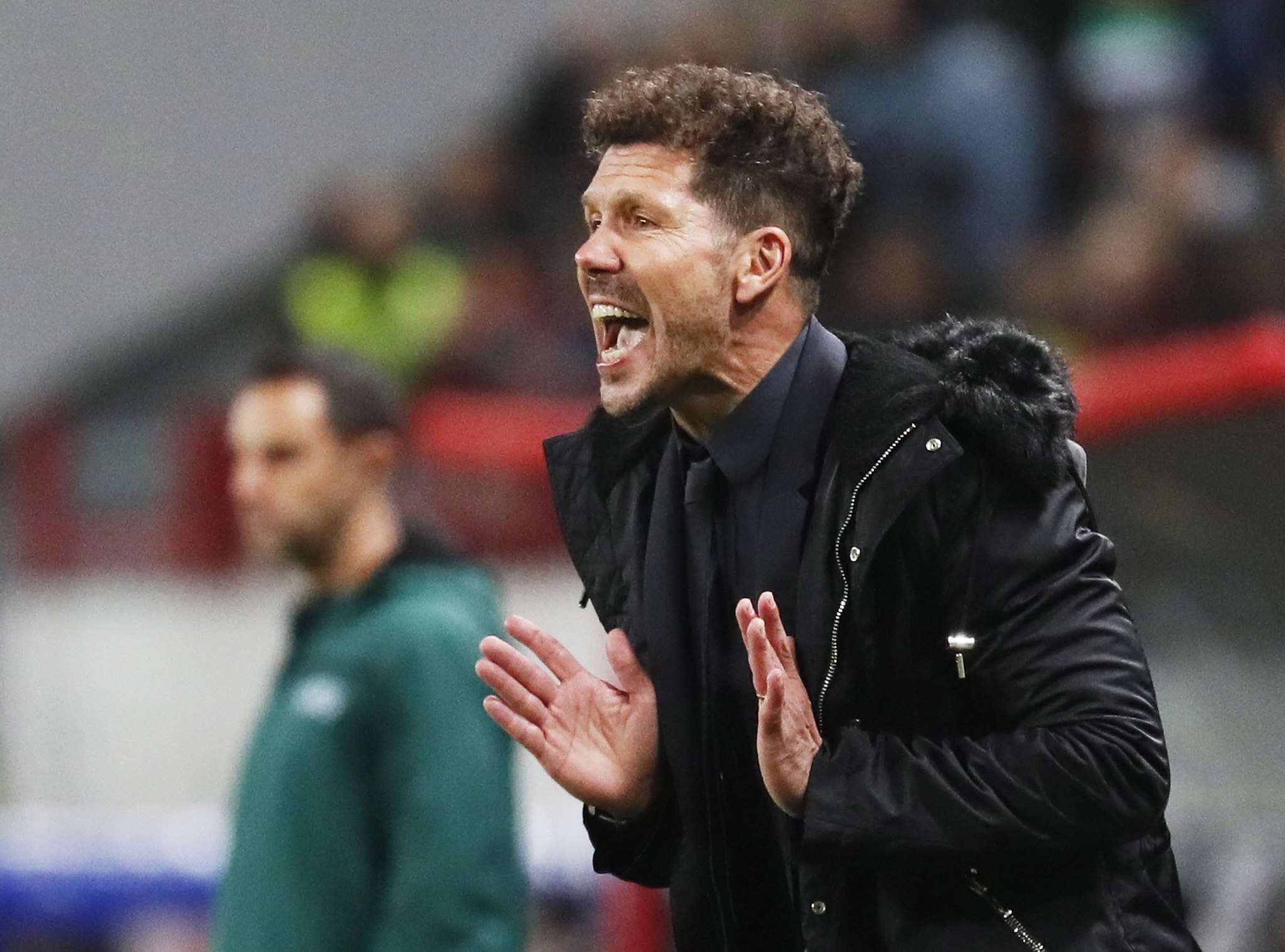 Moscow (Russian Federation), 01/10/2019.- Atletico Madrid head coach Pablo <HIT>Simeone</HIT> during the UEFA Champions League match between Lokomotiv Moscow and Atletico Madrid in Moscow, Russia, 01 October 2019. (Liga de Campeones, Rusia, Moscú) EFE/EPA/MAXIM SHIPENKOV