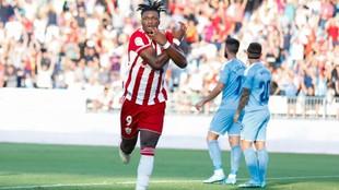 Gassama celebrando un gol