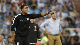 Víctor Sánchez en el encuentro ante el Zaragoza