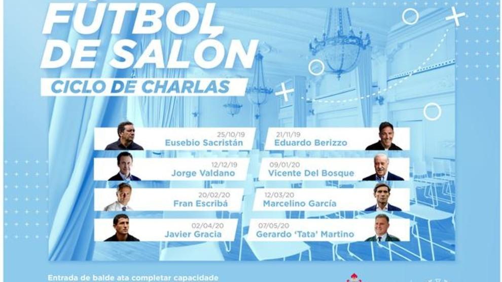 Cartel de las charlas 'Fútbol de Salón'