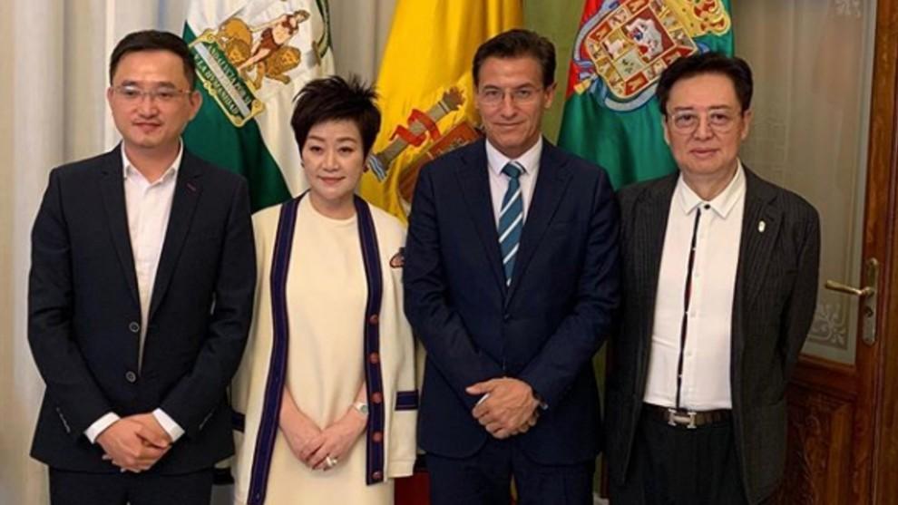 John Jiang after the meeting