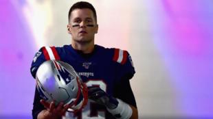 Tom Brady durante el partido contra los Giants