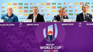 Portavoces del comité organizador de la Copa del Mundo, y de World...