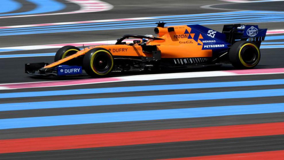 Carlos Sainz, en el GP de Francia de este año.