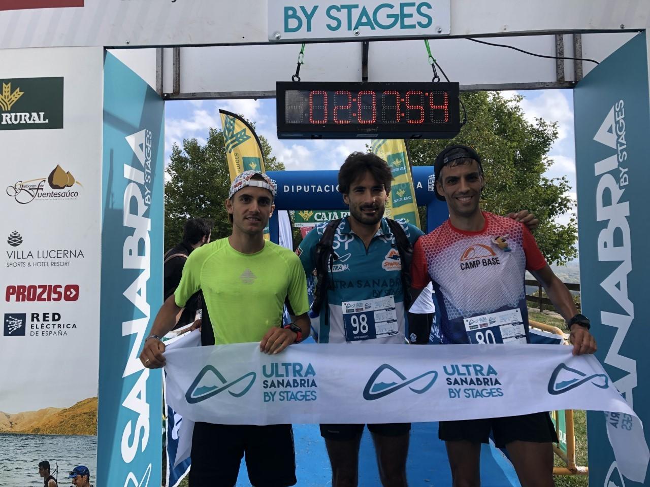 Los tres primeros del Ultra Sanabria Caja Rural.