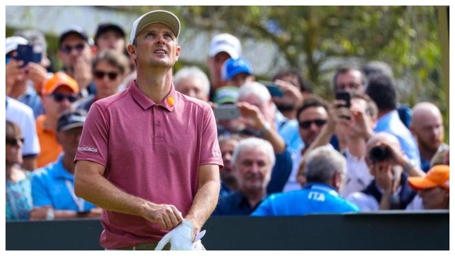 Justin Rose, antes de un golpe de salida en el Open de Italia.