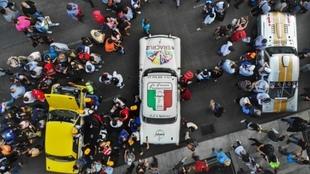 Clásicos autos que corrieron este sábado en la Ciudad de México.