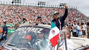 Sergio Pérez en el GP México 2018.