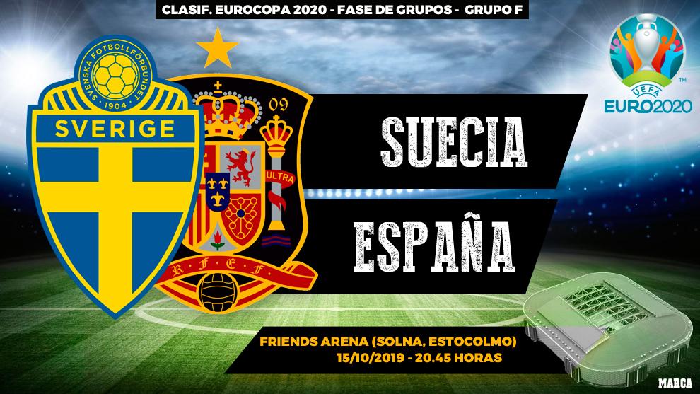 Suecia - España: Horario y dónde ver en TV el partido de la fase de...