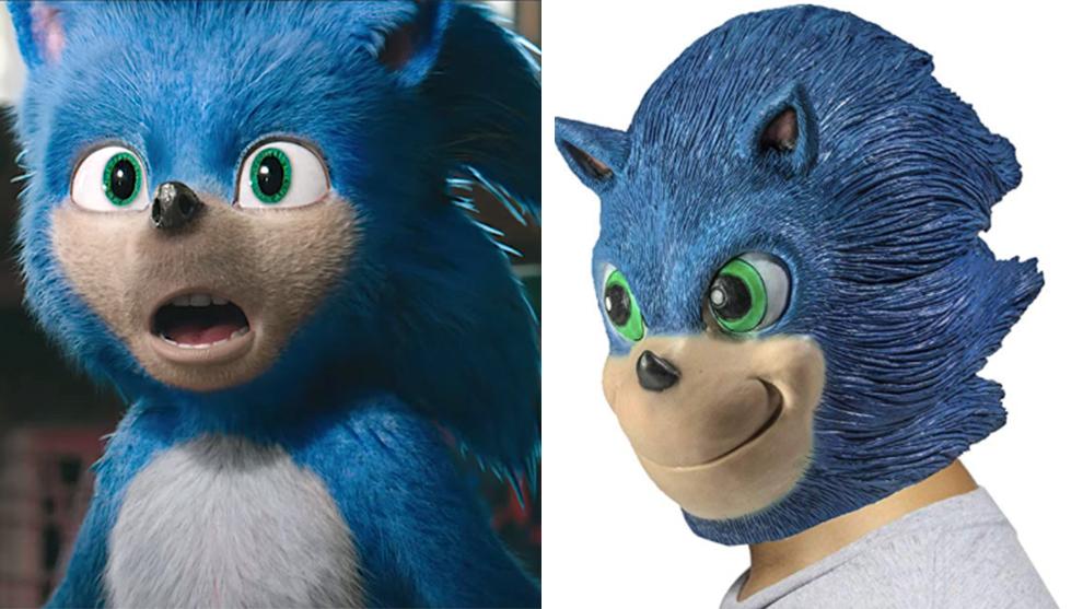 La máscara de Sonic se asemeja al diseño original de la película