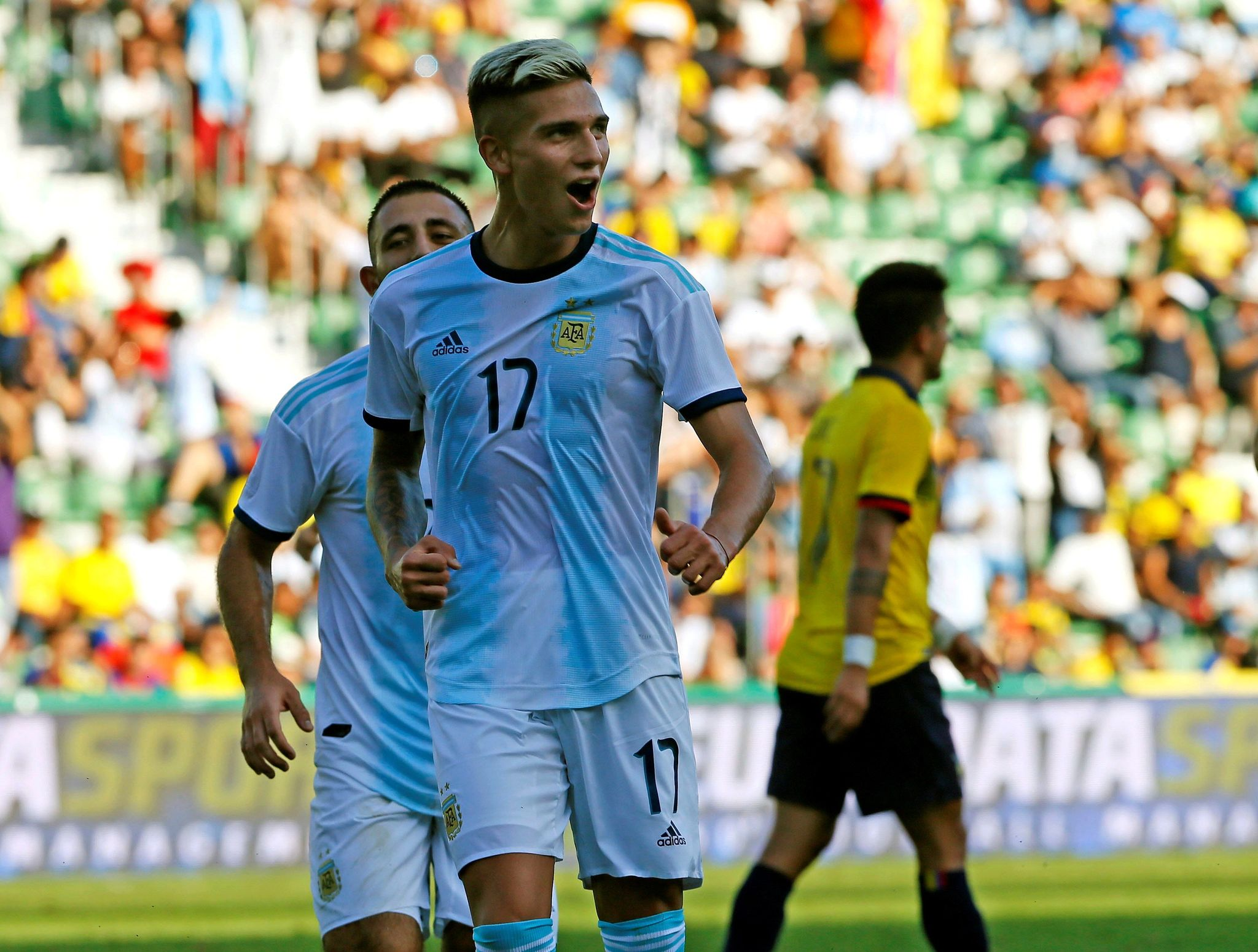 Argentina routs Ecuador without suspended Messi