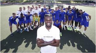Thomas visita al Alcobendas Sport, club del que es copropietario