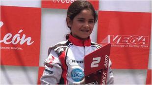 Ivanna ganando un premio