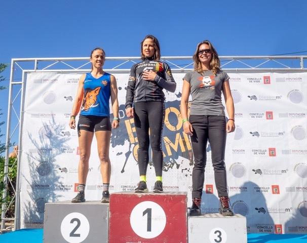 El podio femenino.