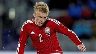 Daniel Wass, en un partido con Dinamarca.