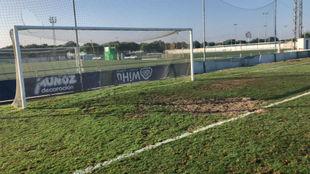 Estado del terreno de juego donde se disputó el Sporting de...