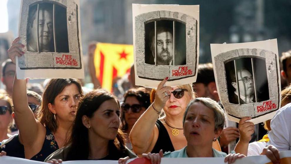 Las protestas por la sentencia condenatoria del procés se están...