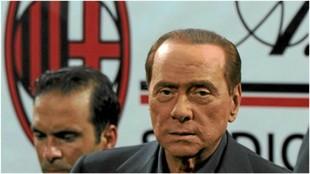 Silvio Berlusconi, tras un Milan-Juventus, en San Siro.