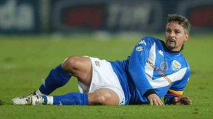 Baggio, durante un partido.