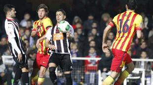 Acción del partido disputado en Cartagonova en 2013 en Copa del Rey...
