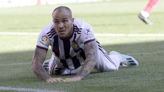 Sandro, en un momento del partido contra el Atlético.