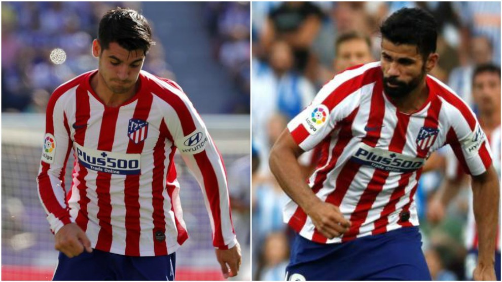 Diego Costa and Morata