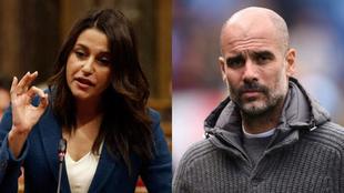 Inés Arrimadas responde a las palabras de Pep Guardiola en el...